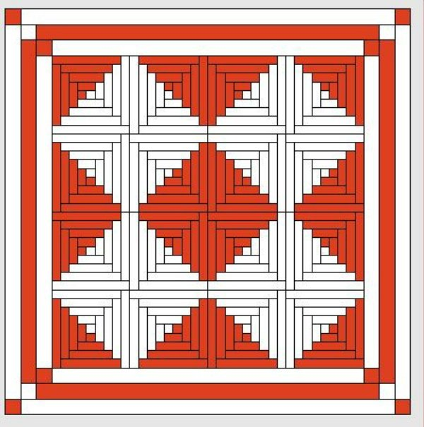 Red and White Quilts: Logcabinmusterh (2)