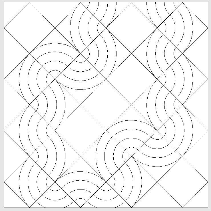 4er kNähanleitung für Kurven und Kreise