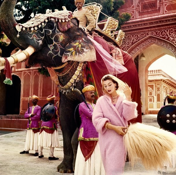 Anne Gunning in Jaipur by Norman Parkinson, 1956 ©Norman Parkinson Ltd/Courtesy Norman Parkinson Archive Vogue 100: A Century of Style is at the National Portrait Gallery, London, from 11 February – 22 May 2016, sponsored by Leon Max.