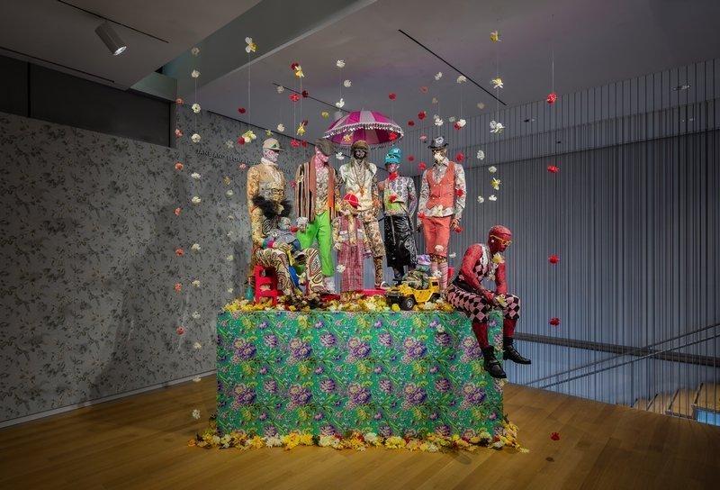 Ausstellungsansicht von Ebony G. Patterson: Dead Treez at the Museum of Arts and Design Photo: Butcher Walsh © Museum of Arts and Design