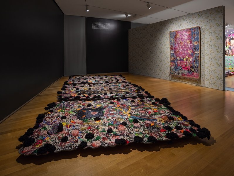 Ausstellungsansicht von Ebony G. Patterson: Dead Treez at the Museum of Arts and Design Photo: Butcher Walsh © Museum of Arts and Design