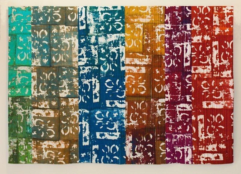 Ausstellung 'Colour Symphony' Arbeit von Inga Gorsvans-Buell