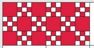 BERNINA-Mitmachaktion 2016: Red and White Quilts: irish Chaine-Muster
