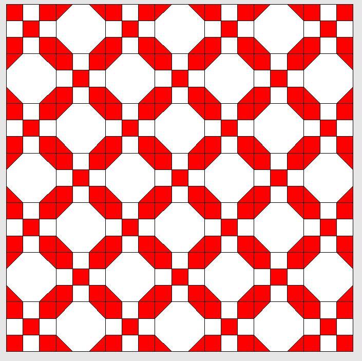 BERNINA-Mitmachaktion 2016: Red and White Quilts: irish Chain-Muster