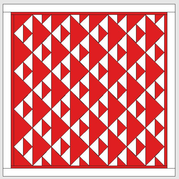 BERNINA-Mitmachaktion 2016: Red and White Quilts : Flying Geese