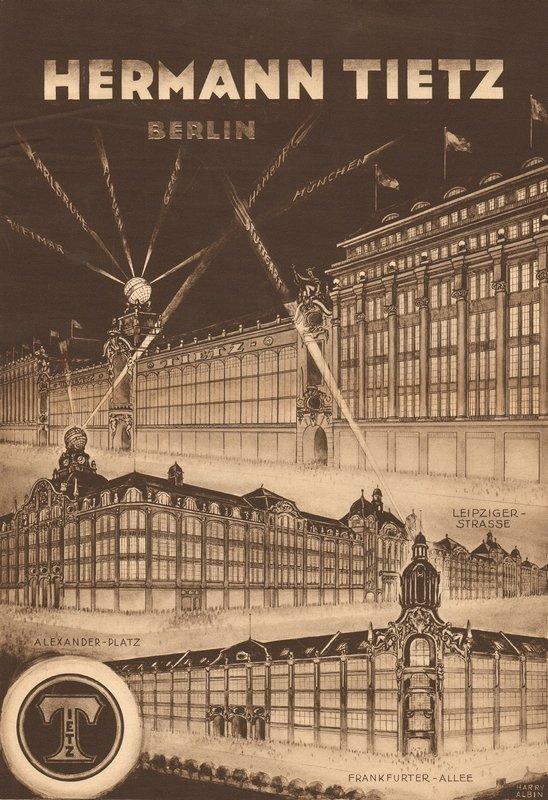 Anzeige des Warenhauses Tietz, Anfang des 20. Jahrhunderts In der Zeit zwischen Kaiserreich und Weimarer Republik war das Warenhaus der 'Ort der Moderne' schlechthin. © LVR-Industriemuseum