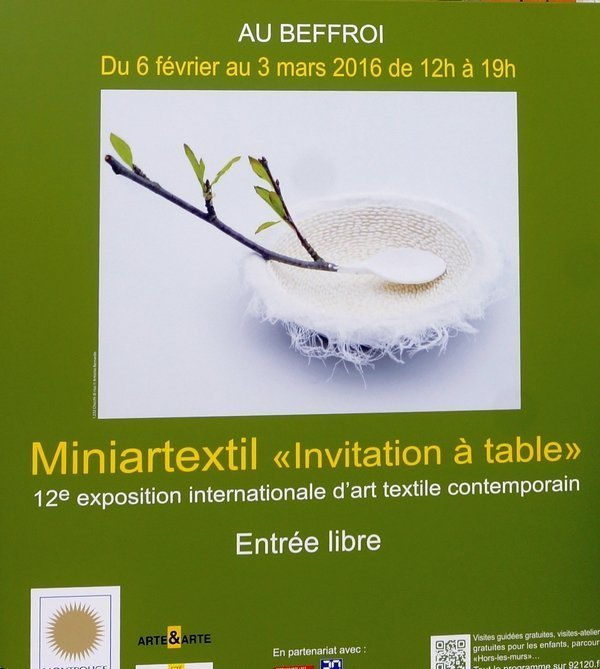 Ausstellungsplakat 'Miniartextil'