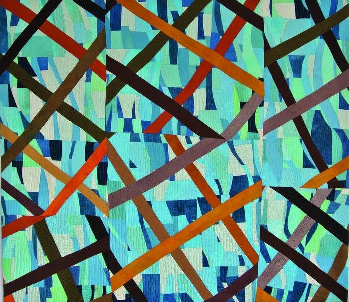 Edith Bieri-Hanselmann (CH): Desperate - Verzweifelt 2015, 209 x 207 cm Foto: Edith Bieri-Hanselmann Vom Museum Tuch + Technik zur Verfügung gestellt