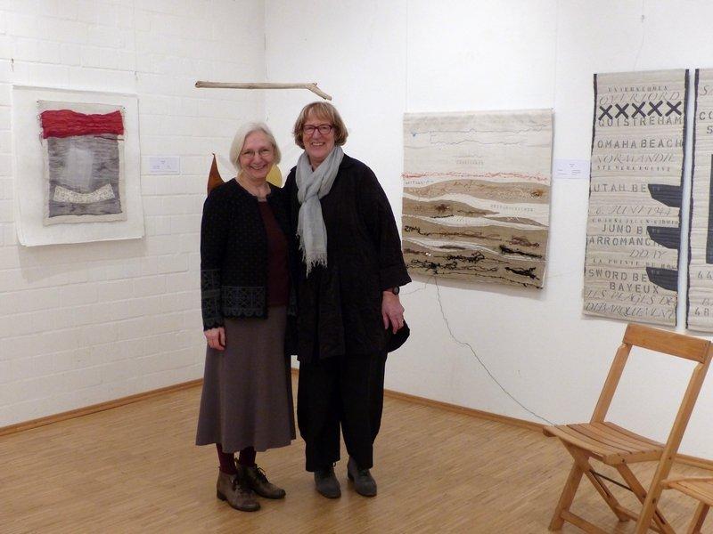 Heide Mönkemeyer und Helene Fischer in ihrer Ausstellung 'Gemeinsam' Foto: Thomas Brendgens-Mönkemeyer