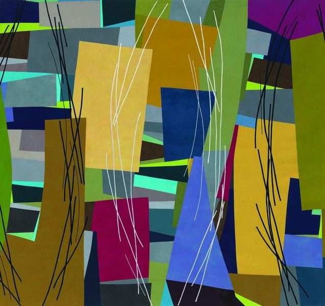 Karen Schulz (USA): Logjam 2015, 224 x 208 cm Foto: Gulezian QuickSilver Vom Museum Tuch + Technik zur Verfügung gestellt