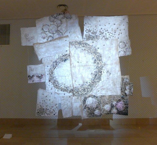 Marco Vido (I): Babylon II Installation begeleitend zur Ausstellung 'Miniartextil 2016'