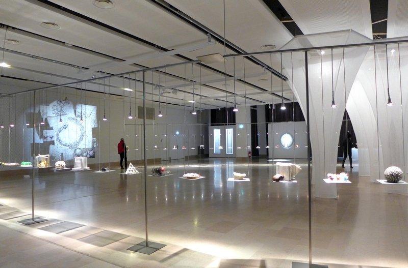 Blick in die Ausstellung 'Miniartextil 2016'