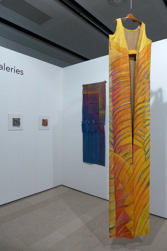 Arbeiten von Francoise Decorse Blick in das 'Carré des galeries'