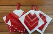 BERNINA-Mitmachaktion 2016: Red and White Quilts: Herzen nähen