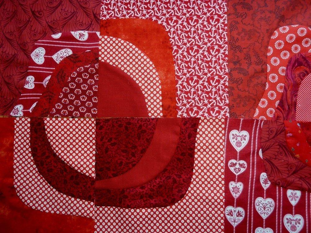 BERNINA-Mitmachaktion 2016: Red and White Quilts : Anleitung zum freien Schneiden