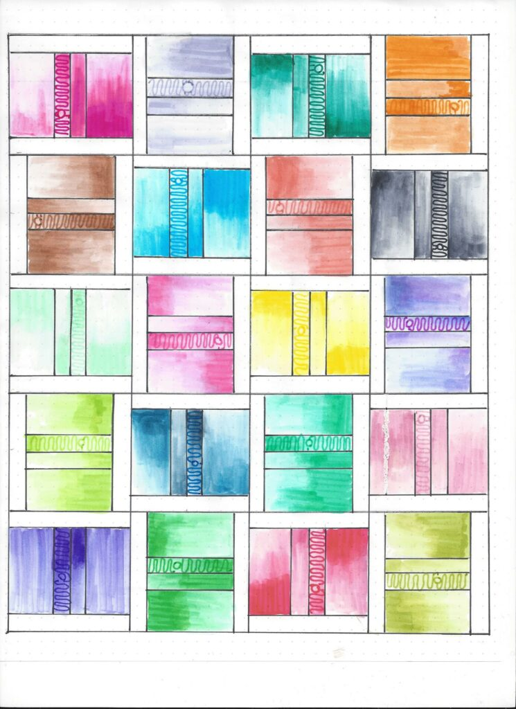 ombre quilt - pw muster