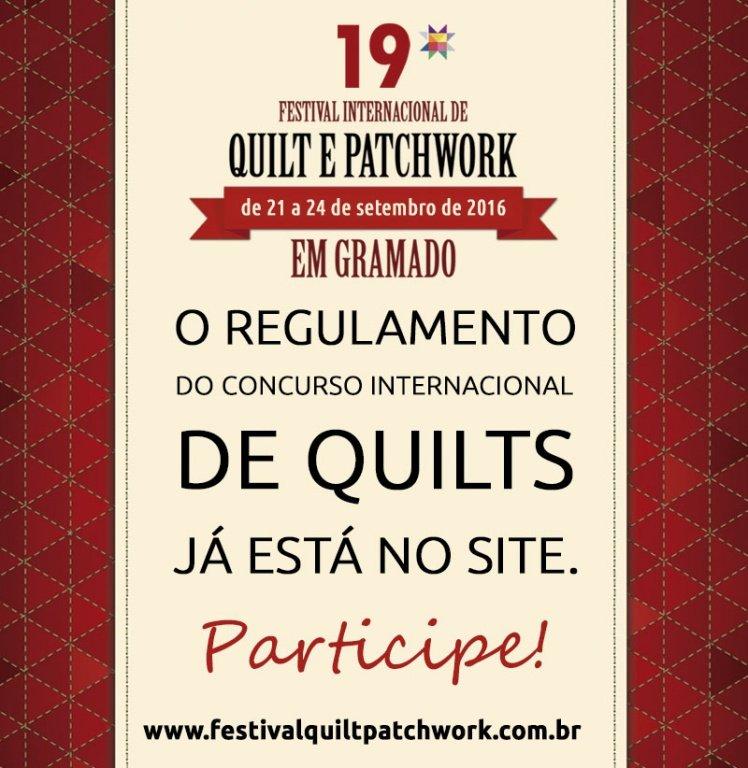 Ausschreibung Quilt Festival Gramado