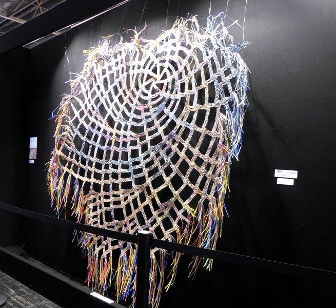Blick in die Ausstellung 'L'aventurier du tessage' Odon (Frankreich) l'aiguille en fête 2016