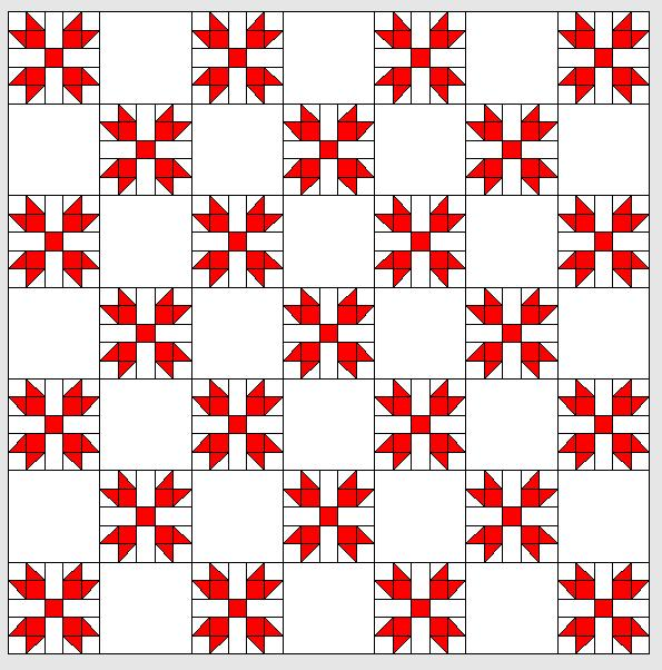 BERNINA-Mitmachaktion 2016: Red and White Quilts: Blüten und Blätter