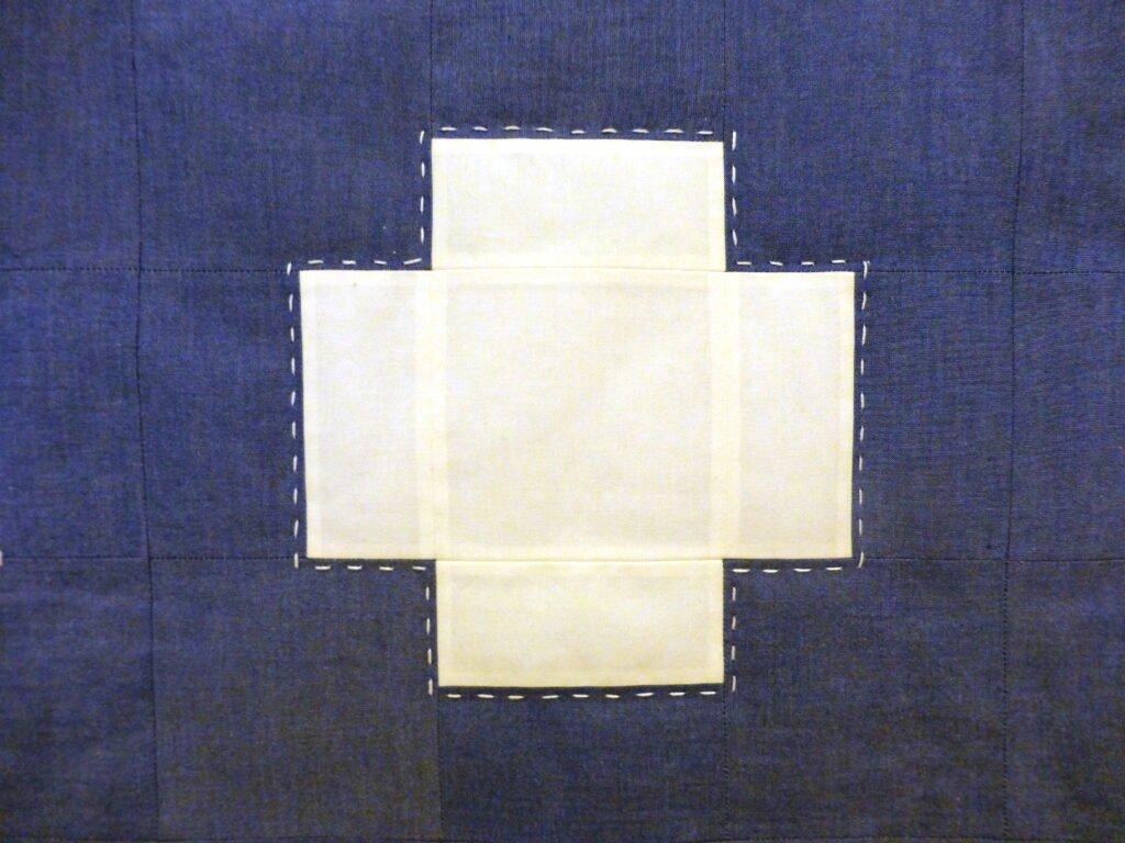 "Quiltmanufaktur / Andrea Kollath ""Blaues Kreuz 2"""