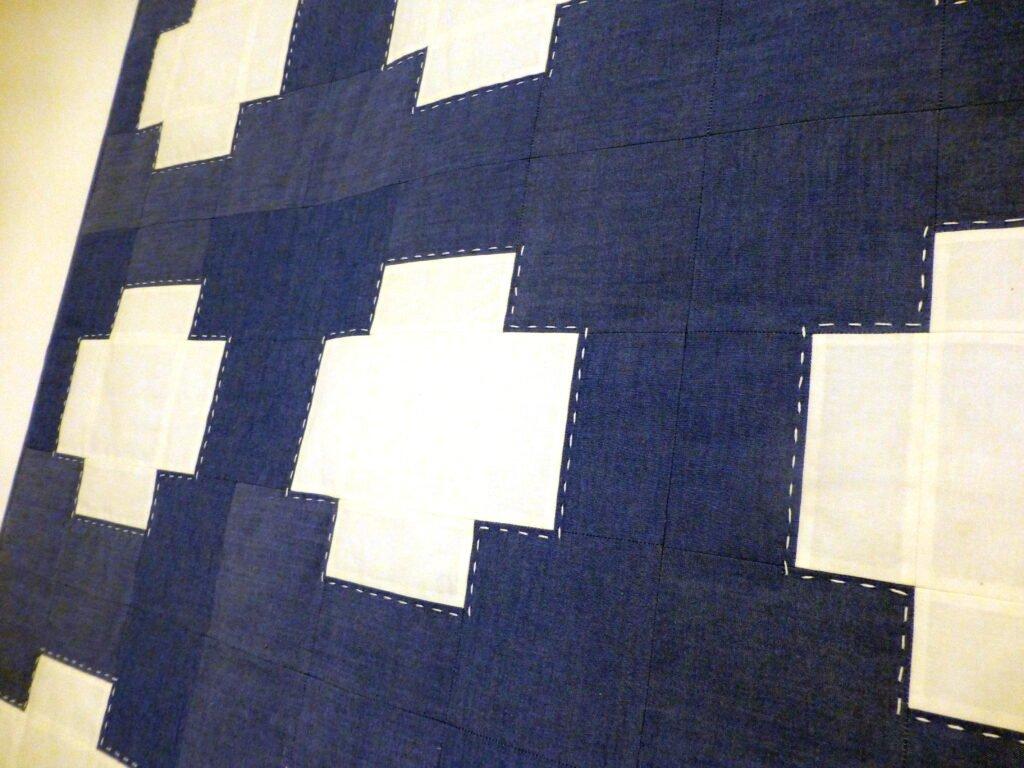 "Quiltmanufaktur / Andrea Kollath ""Blaues Kreuz 3"""