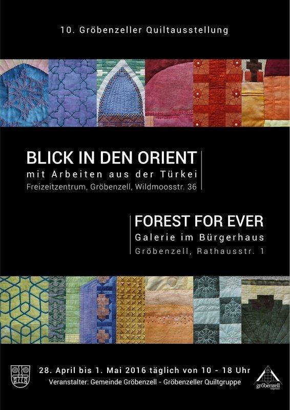 Plakat Foto: Gabriele Bach, Gröbenzeller Quiltgruppe, Design: Alexander Bach