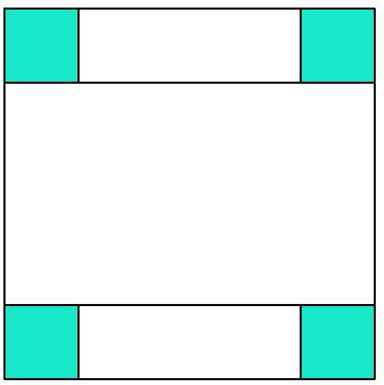 Double irish Chain Muster mit 3 Farben