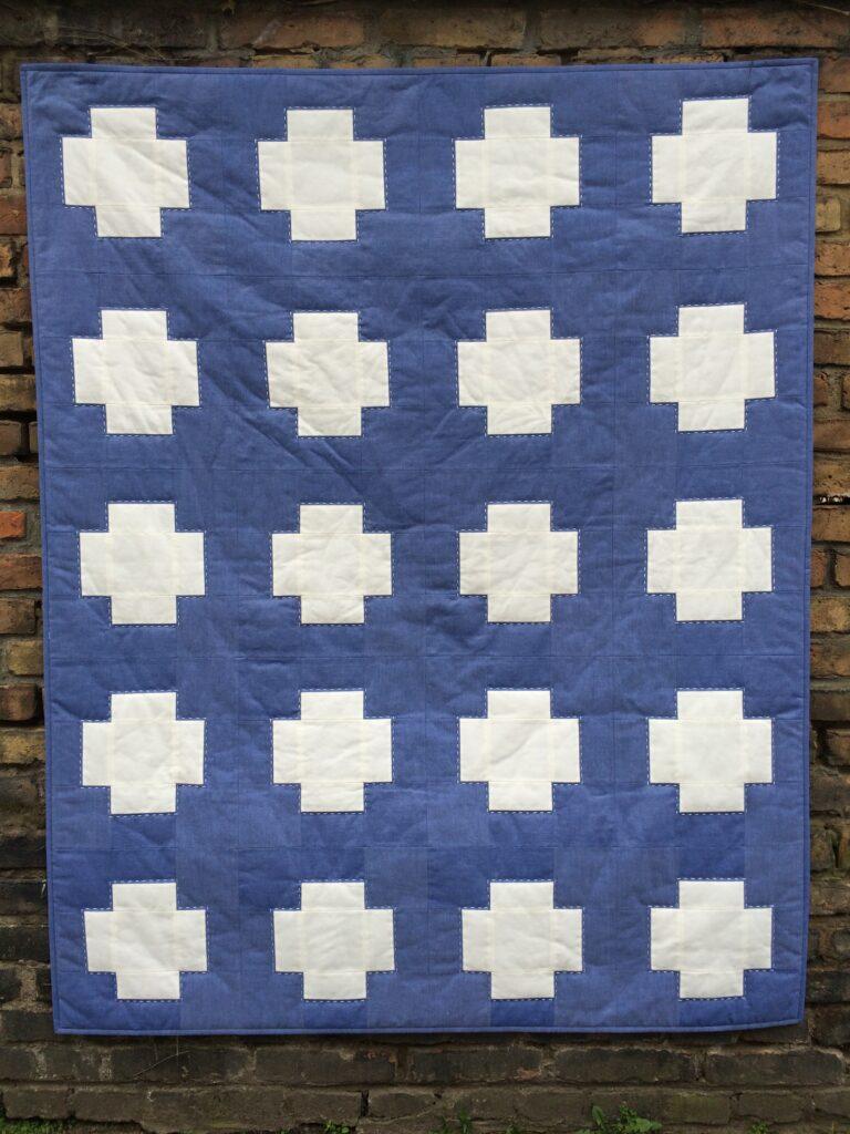 "Quiltmanufaktur / Andrea Kollath ""Blaues Kreuz"""