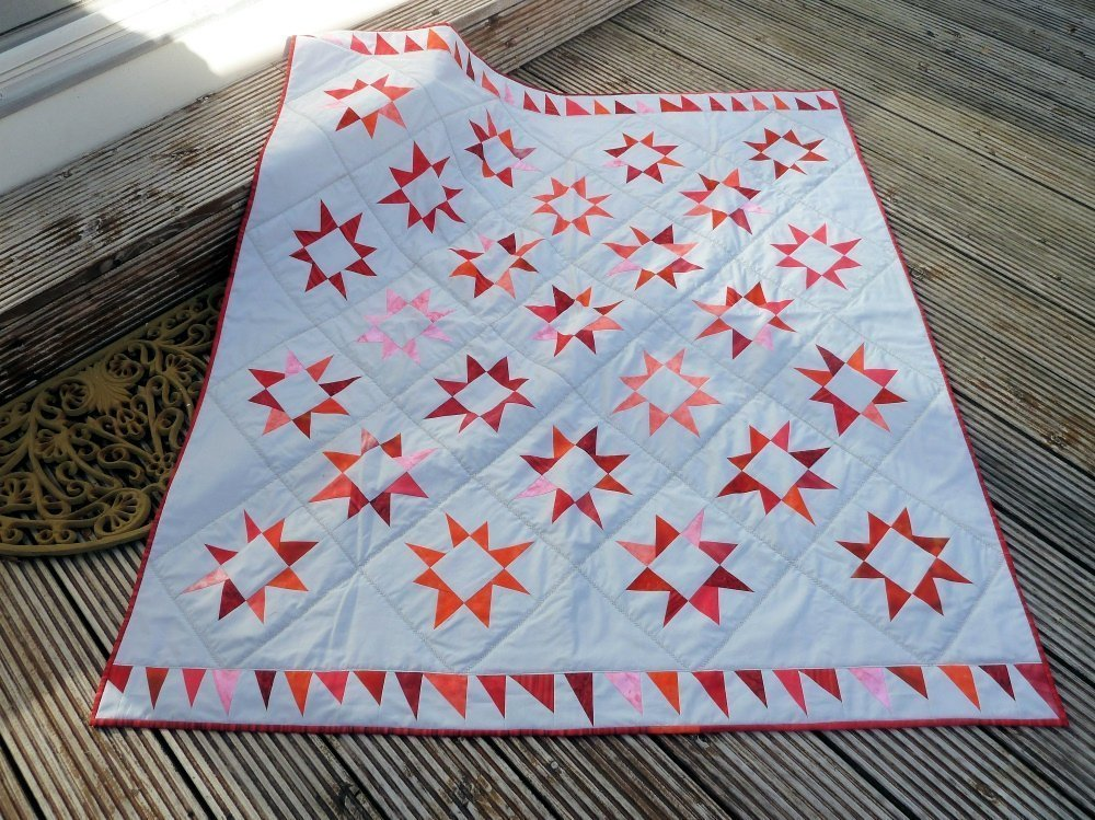 BERNINA-Mitmachaktion 2016: Red and White Quilts : Sterne