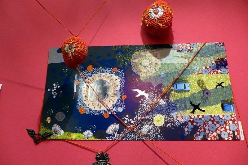 Blick in die Ausstellung 'La galerie' RRose Sélavy l'aiguille en fête 2016
