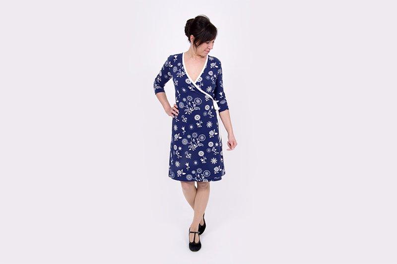 Wickelkleid aus Jersey - ein Modeklassiker! » BERNINA Blog