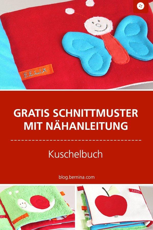 Gratis Schnittmuster mit Nähanleitung: Kuschelbuch für Babies und Kleinkinder