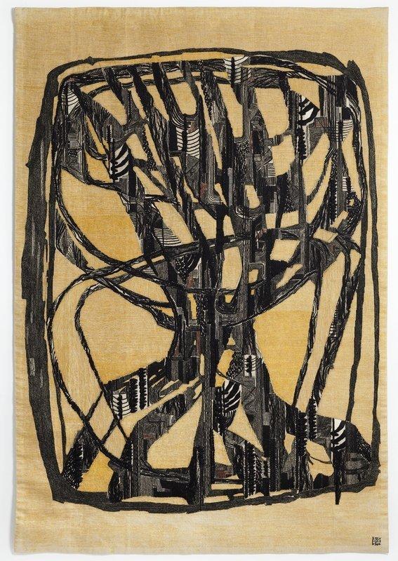 Lissy Funk: Lebensbaum 1964, Leinen, Baumwolle, 204,5 x 141 cm Fondation Toms Pauli, Lausanne Photo: A. Conne, Lausanne