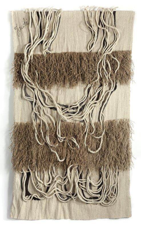 Ritzi et Peter Jacobi: Textiel-Relief blanc 1969, Wolle, Sisal, 259 x 160 cm Fondation Toms Pauli, Lausanne Photo: A. Conne, Lausanne