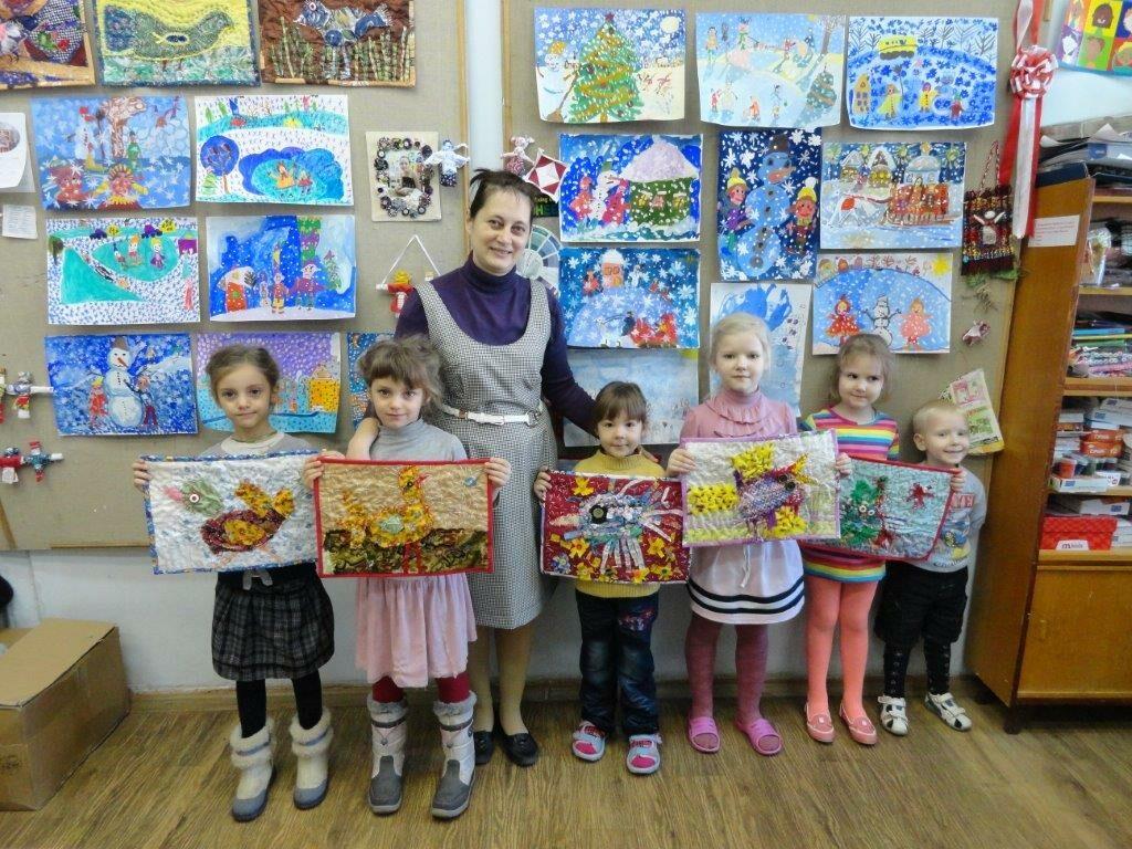 Oksana Vinnichenko mit ihren Kindern