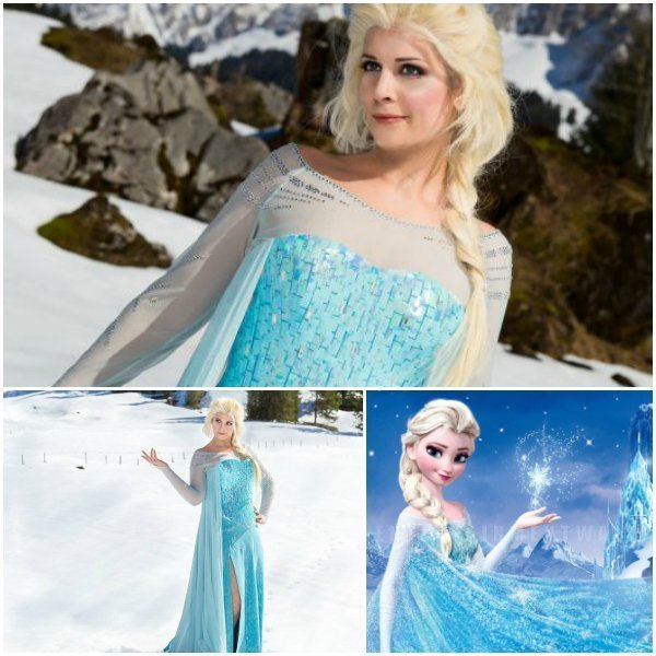 Elsa aus Frozen Collage