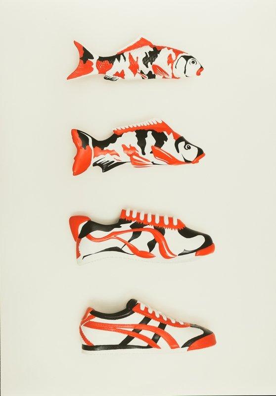 Yoske Nishiumi (Design) für Onitsuka Tiger KOI Morphing, Berlin, 1/2008 Agentur: KoiKlub, Foto: Kai von Rabenau, Poster, 100,0 x 70,0 cm © Kai von Rabenau Foto freundlicherweise vom Museum für Kunst und Gewerbe zur Verfügung gestellt