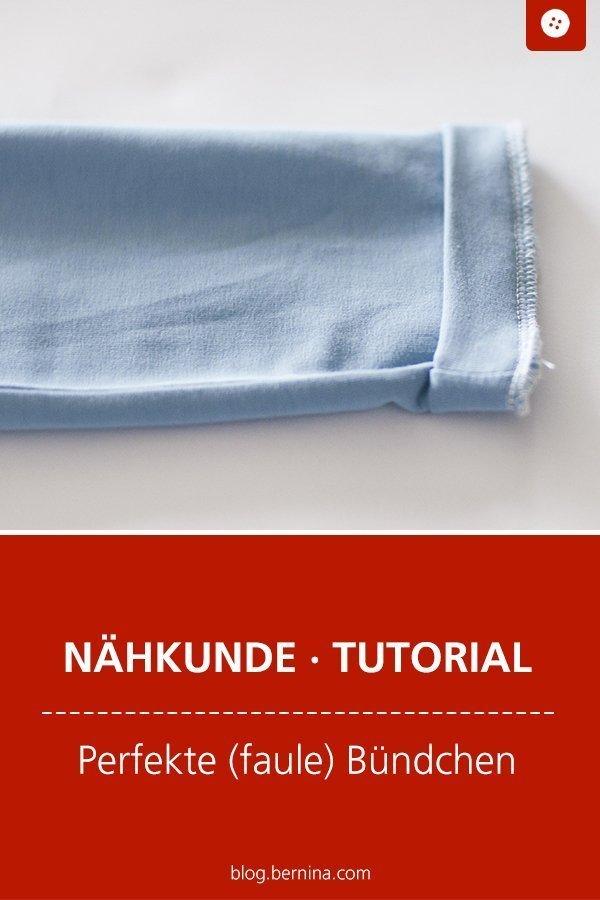 Nähkunde / Tutorials: Schnelles (faules) Bündchen #nähen #bund #halsbund #saum #kinder #kleidung  #tutorial #overlock #nähanleitung #diy #bernina