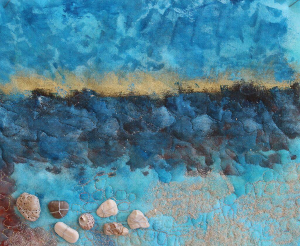 16) SAND UND WASSER (Detail), Christa Pirkner