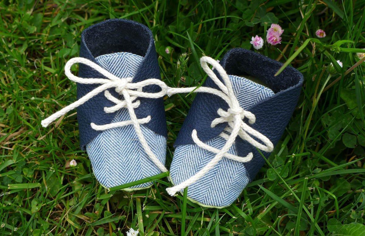 Babyschuhe selber nähen - Anleitung und Schnittmuster