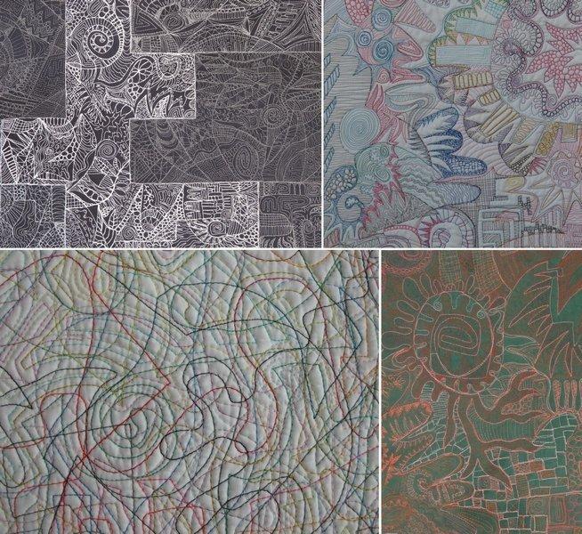 Cécile Trentini: Circonvolutions Collage mit Werkausschnitten Foto-Collage: Cécile Trentini