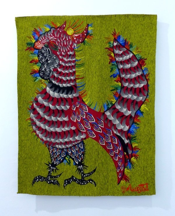 Jean Lurcat: Coq Solergot 1962, Wolle, Baumwolle Leihgabe Fondation Toms Pauli, Lausanne