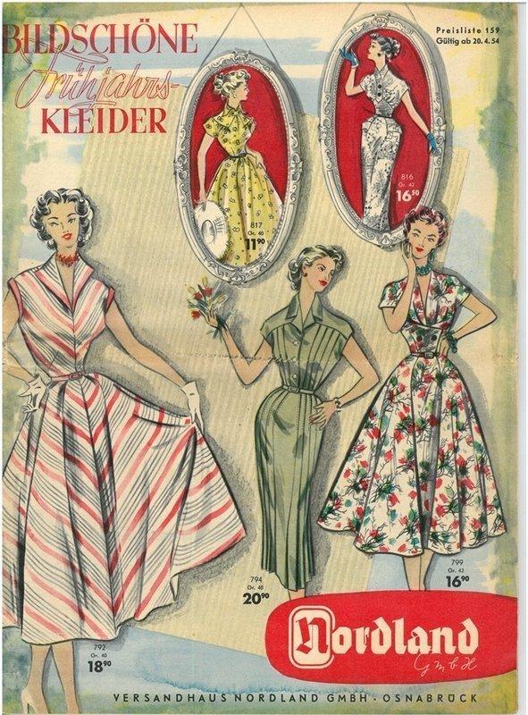 Versandkatalog Nordland 1954 Dass Passt! Ausstellung im Tuchmacher Museum Bramsche Foto/Grafik: joseph design+medien