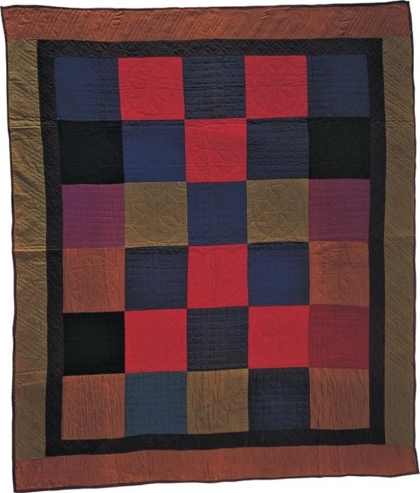 One Patch Quilt, artist unidentified, midwestern United States, 1921, cotton and wool, 75 1/2 x 64 in., American Folk Art Museum, gift of David Pottinger, 1980.37.54. © 2016 American Folk Art Museum. All rights reserved.