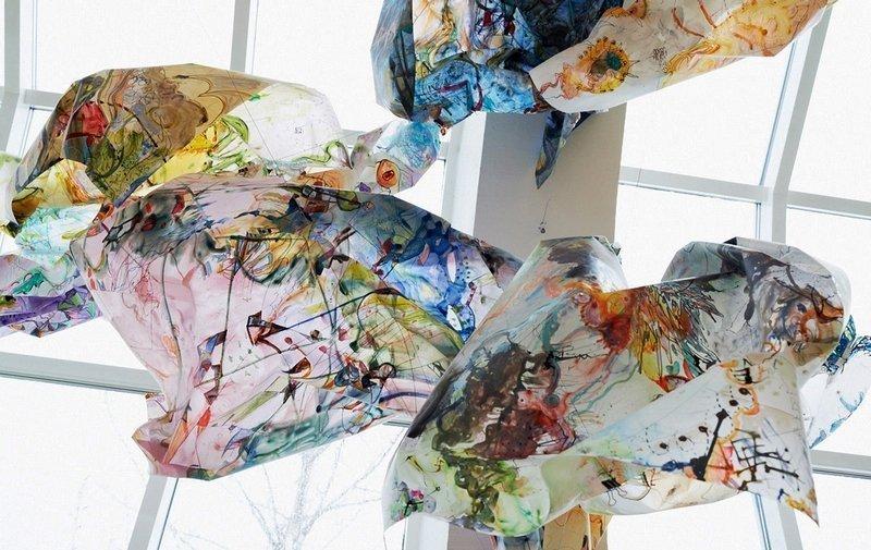 Anna Jóelsdóttir: BROT / FRAGMENT, FRACTURE, FOLD, VIOLATION, Detail Installation ASI Art Museum, Reykjavik 2014 Foto: Anna Jóelsdóttir
