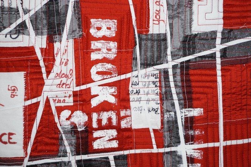 Heidi Drahota: Broken Lines, Detail Foto freundlicherweise von Martina Unterharnscheidt zur Verfügung gestellt