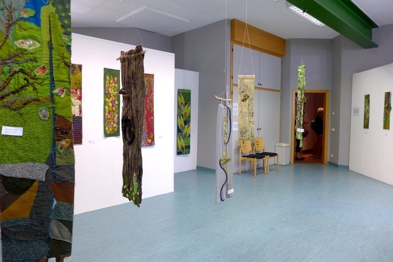 Blick in die Ausstellung 'Forest for Ever' 7. Quiltfestival Luxembourg