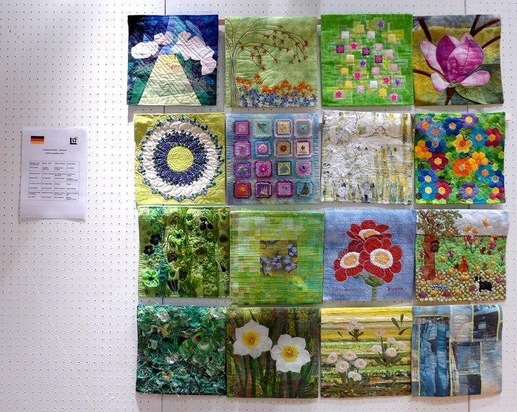 Deutscher Beitrag zur Ausstellung 'Seasonal Garden' - Wettbewerb der EQA 2014 Patchworktage 2016 in Celle