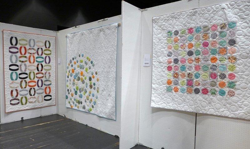 Ausstellung 'Moderne Eleganz' von Zen Chic Quilts, Brigitte Heitland Patchworktage 2016 in Celle