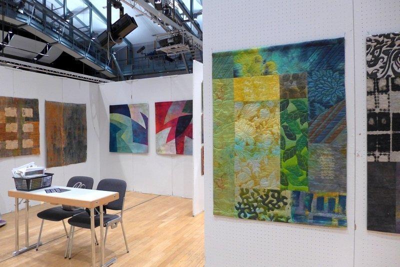 Ausstellung 'Texturen' der Gruppe Tex21 Patchworktage 2016 in Celle